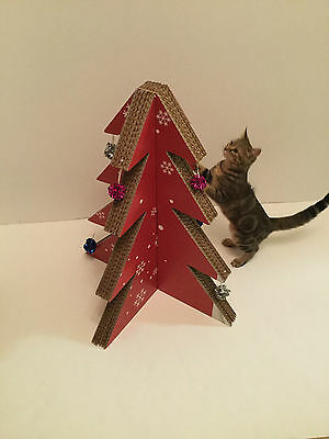 Christmas tree cat scratcher