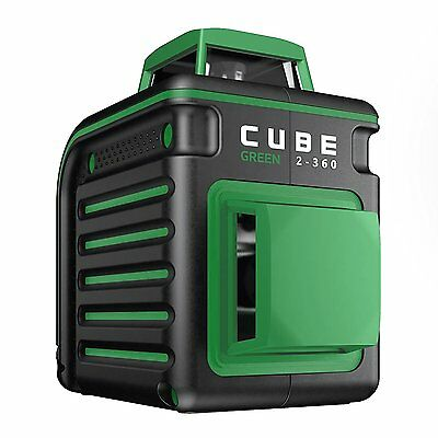 AdirPro Cube 2-360 Self Levelling Green Cross Line Laser Level - Home Edition