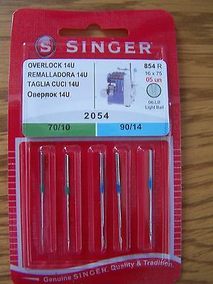 Singer 2054 Overlocker Needles (14U134) Mixed Pack Of 5 Low Price + Free P/p