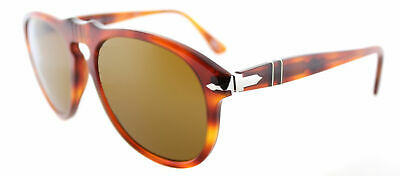 ae3381e0c2 Authentic Persol PO 649 96 33 Light Havana Sunglasses Crystal Brown Lens  54mm