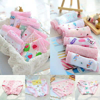 Infant Kids Fashion Underwear Lace 12pcs/Set High Waist Casual Briefs Knickers