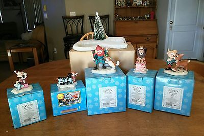 Set of 6 Rudolph And The Island Of Misfit Toys Ice Pond + 5 figurines NIB Enesco