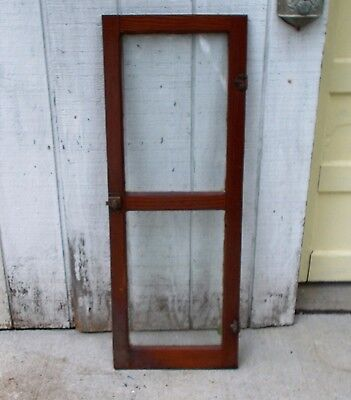 Antique Glass Pantry Cupboard Door Original Finish Shabby Old Vintage Hardware