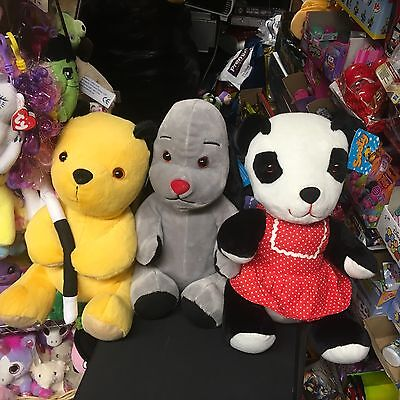 "Set Of 3 Large 16"" Sooty Soft Toys Sooty Soo Sue And Sweep New Tags"