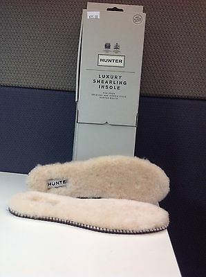HUNTER Boots LUXURY SHEARLING INSOLES Shoe Liner Comfort Padding Size 5