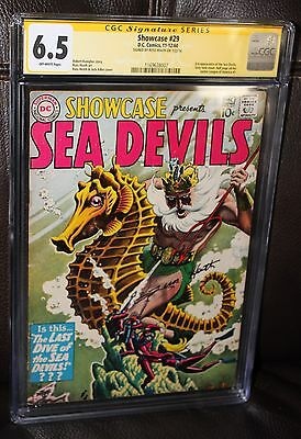 Showcase #29 CGC 6.5 OW 3rd appearance of Sea Devils - Russ Heath Signature