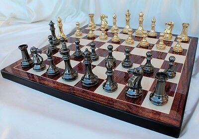 The Grand Master Staunton Luxury Chess Pieces Set with 102mm (4.00   ) King i...