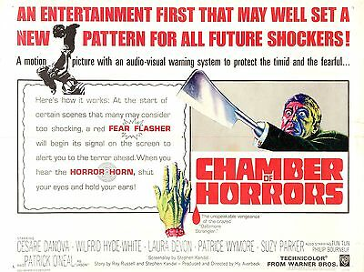 """Chamber of horrors 1966 16"""" x 12"""" Reproduction Movie Poster Photograph"""