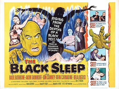 """The Black Sleep 16"""" x 12"""" Reproduction Movie Poster Photograph"""