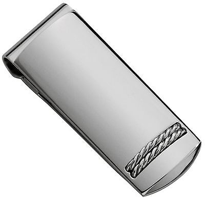 Colibri Braided Rope Static .925 Sterling Silver & Stainless Steel Money Clip