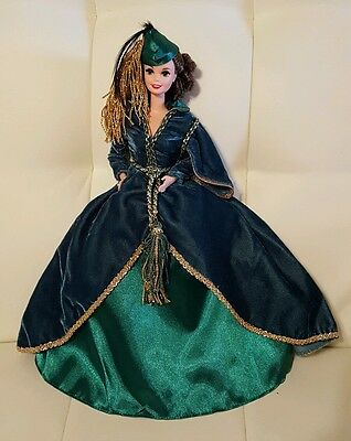 Barbie as Scarlett O'Hara Gone with the Wind Collectible Green Dress