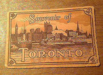 c1910 Souvenir of Toronto Color View Booklet F.W. Woolworth by Valentine & Sons