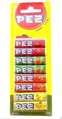 10 Packs Pez Refills - Fruit Flavoured Candy