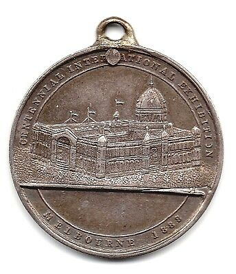 1888  Centenary International Exhibition  Melbourne - Silver Medallion  - Nice