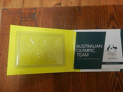 2016 Australia $2 Olympic EMPTY 5 coin set folder only RAM MINT