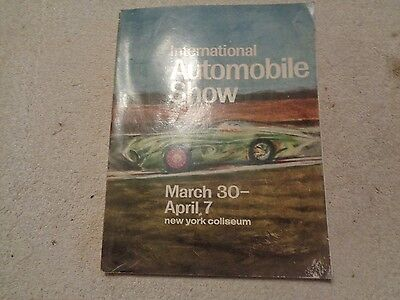 1968 International Automobile Show Program New York Coliseum