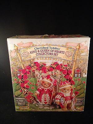 Cherished Teddies King and Queen of Hearts w/ Box and Certificate