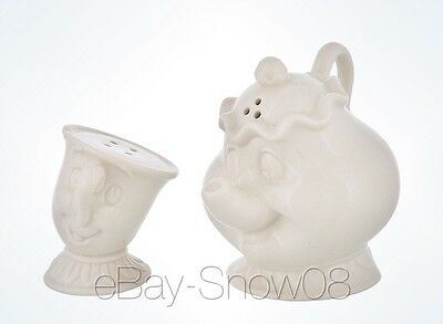 Mrs. Potts And Chip Salt And Pepper Shaker Disney Park New Beauty And The Beast