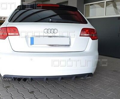 Audi A3 8PA Sportback Restyling Diffusore Spoiler posteriore RS3