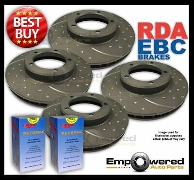 FULL SET DIMPLED SLOTTED DISC BRAKE ROTORS+PADS for Volvo XC90 *336mm* 2004 on