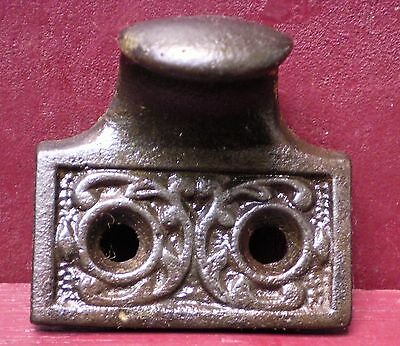 1 (More Available) Antique Cast Iron Bin Pull Window Lifts #3