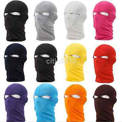 Unisex Man's Outdoor Motorcycle Full Face Mask Balaclava Ski Neck Protection AU