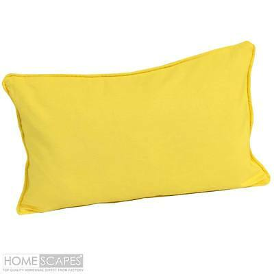 "new 19"" x 25"" Home Decor SILKY cotton YELLOW Pillow Case / COVER 2 in 1 Set"