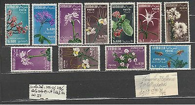 1955 1959 SOMALIE Italienne 11 timbres fleurs neufs