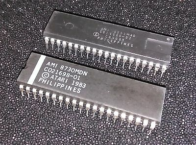 Genuine ATARI 800 GTIA and ANTIC chips