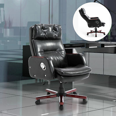 Ergonomic Office Chair Swivel Recliner Computer Padded Seat Heavy Duty Black