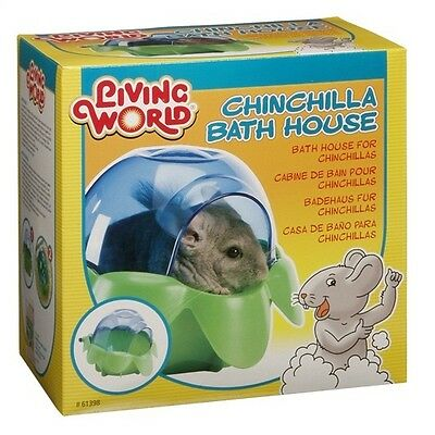 Living World Small Animal Chinchilla Dust Sand Bath / Nest House