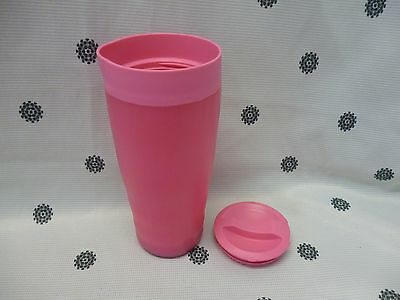 Tupperware Cafe Out Travel Coffee Mug Tea Hot Cold Drinks Pink New