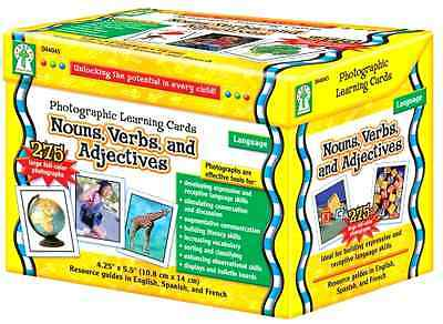 1 Set Photographic Learning Flash Cards Boxed Nouns/Verbs/Adjectives Brand New
