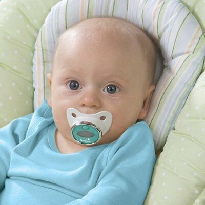 Infant Pacifier Thermometer Teal White Unisex Baby Gear Health Safety Easy New