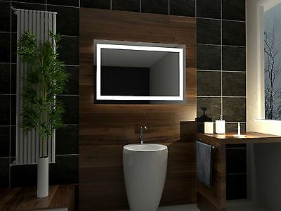 LED illuminated Bathroom Mirror ATLANTA 100 x 60 cm | Modern | Wall mounted