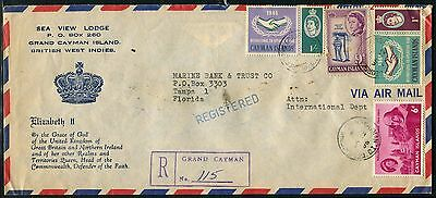 Cayman Is 1965 registered Hotel advertisement cover to USA