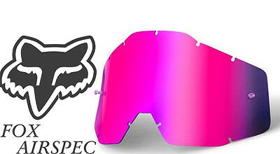 Goggle Shop MX Motocross Goggle lens for Fox Airspec - Mirror Pink