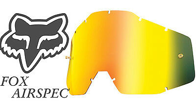 Goggle Shop MX Motocross Goggle lens for Fox Airspec - Mirror Gold