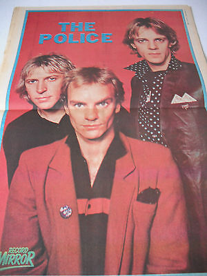 The Police Double Page Magazine Poster 1980