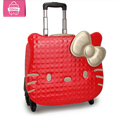 Hello Kitty Rolling Suitcase Luggage Trolley ABS Bag Women Girls Carry  travel 9bba4d515416d