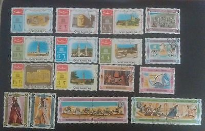16 Kingdom of Yemen stamps - including full set of Visit of Queen of Sheba 1967