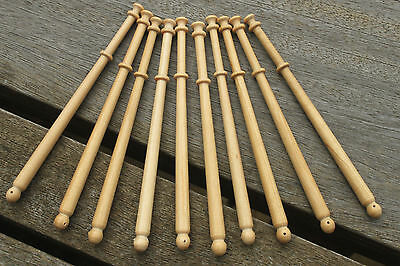 Midland lace bobbins - twelve new lightwood (Guatambu) bobbins