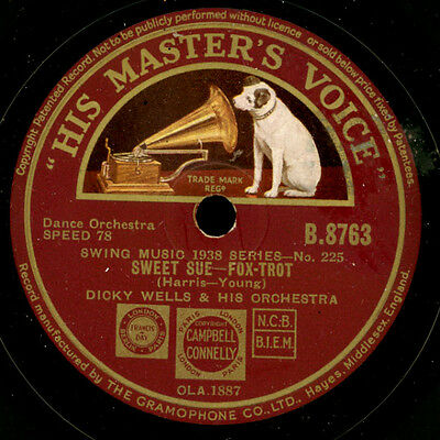 DICK WELLS & HIS ORCHESTRA Sweet Sue / Hangin' around Boudon   78rpm   X202