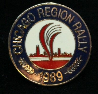 1989 Chicago Region Rally pin cityscape motorcycle rally pin