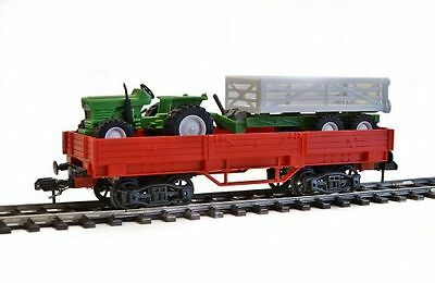 NewRay Low-sided wagon with Tractor 1 gauge, with Märklin Claw coupling