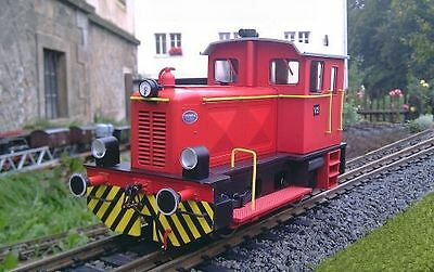 Train Line45 Deutz Locomotive red Conversion by Track G 45 mm to Gauge II 64 mm