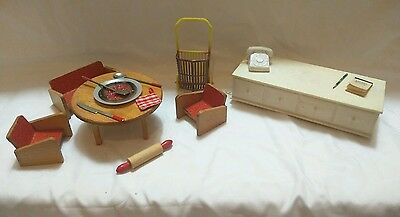 Vintage 1960's Susy Goose Hope Chest Drawer Doll House Furniture & More !!