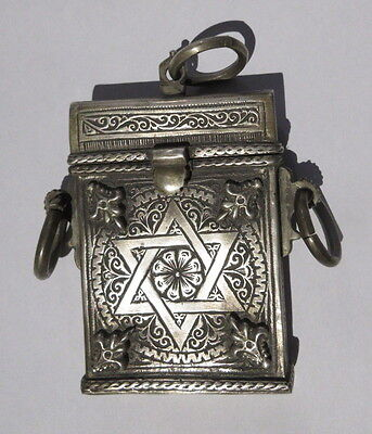 Antique Siddur Jewish Prayer Box from Fès, Morocco