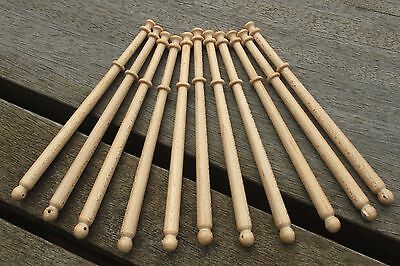 Midland lace bobbins - ten new lightwood (Maple) bobbins