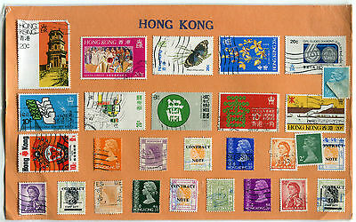 Collection of 28 postage stamps HONG KONG